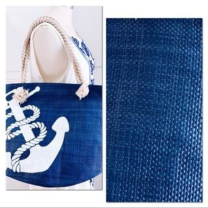 Navy Blue & White Anchor Tote Perfect Summer Tote